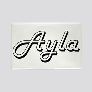 Ayla Classic Retro Name Design Magnets