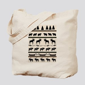 Mountain Cabin Blanket Design Tote Bag