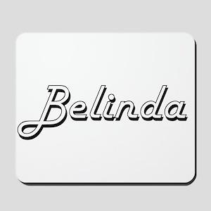 Belinda Classic Retro Name Design Mousepad