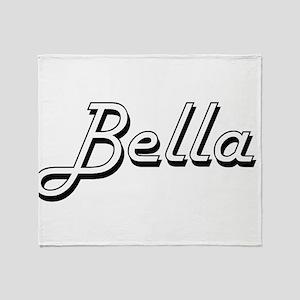 Bella Classic Retro Name Design Throw Blanket