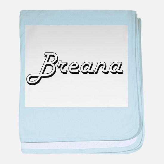Breana Classic Retro Name Design baby blanket