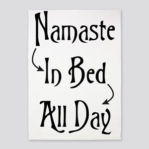 Namaste In Bed All Day 5'x7'Area Rug