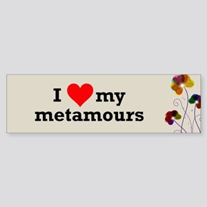 I Love Metamours Polyamory Bumper Sticker