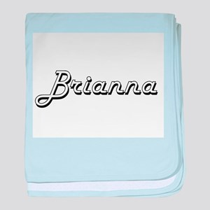 Brianna Classic Retro Name Design baby blanket