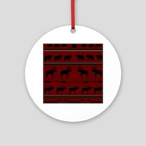 Mountain Cabin Design Ornament (Round)