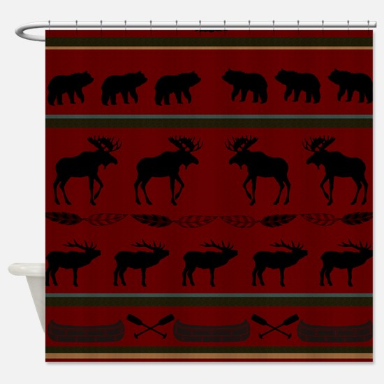 Mountain Cabin Design Shower Curtain