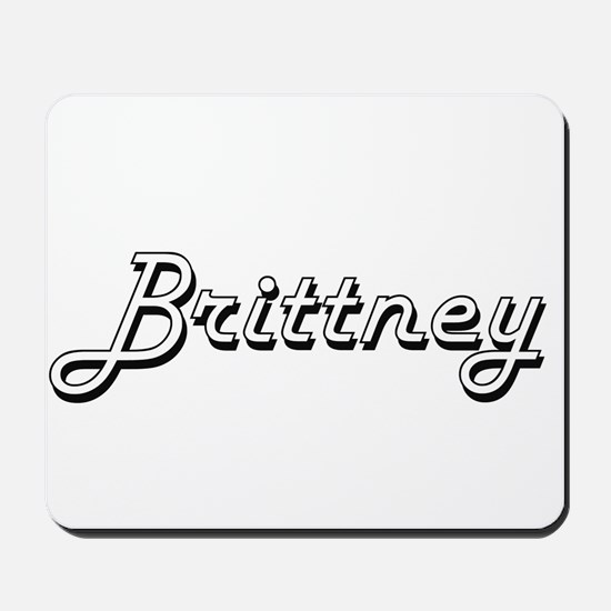 Brittney Classic Retro Name Design Mousepad