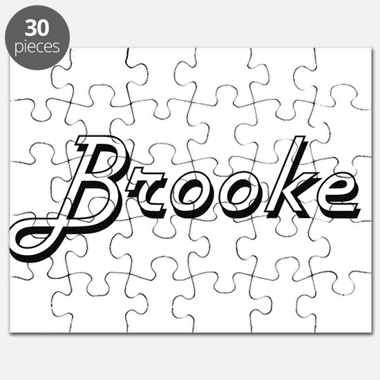Brooke Classic Retro Name Design Puzzle