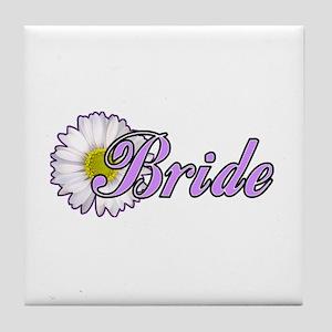 Daisy Bride Tile Coaster