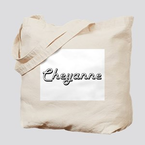 Cheyanne Classic Retro Name Design Tote Bag