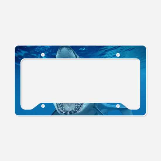Big White Shark Jaws License Plate Holder
