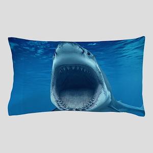 Big White Shark Jaws Pillow Case