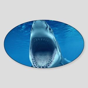 Big White Shark Jaws Sticker