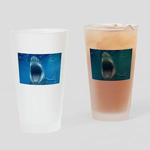 Big White Shark Jaws Drinking Glass