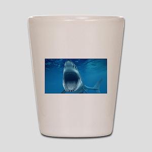 Big White Shark Jaws Shot Glass