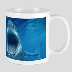 Big White Shark Jaws Mugs