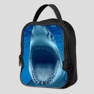 Big White Shark Jaws Neoprene Lunch Bag
