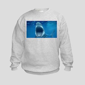 Big White Shark Jaws Sweatshirt