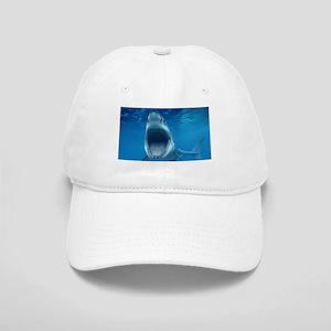 Big White Shark Jaws Baseball Cap