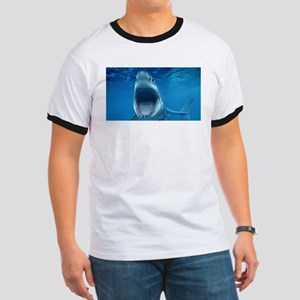 Big White Shark Jaws T-Shirt