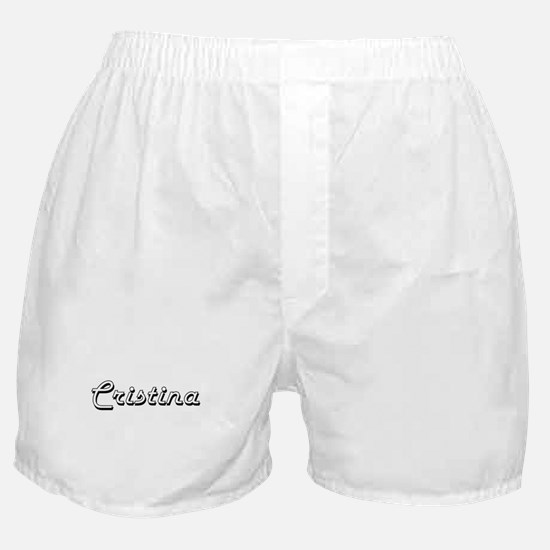 Cristina Classic Retro Name Design Boxer Shorts