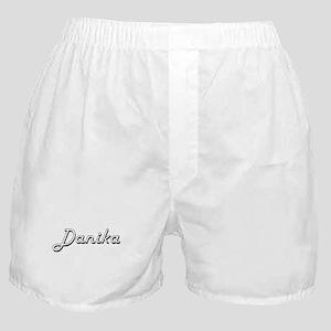 Danika Classic Retro Name Design Boxer Shorts
