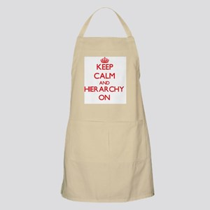 Keep Calm and Hierarchy ON Apron