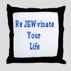 Rosh Hashanah ReJEWvination Throw Pillow