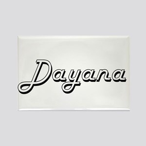 Dayana Classic Retro Name Design Magnets