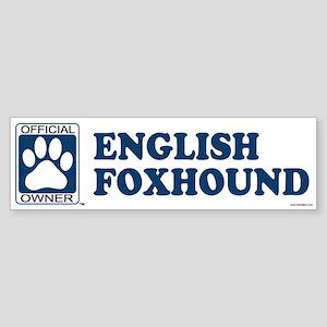 ENGLISH FOXHOUND Bumper Sticker