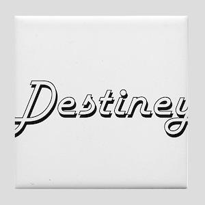 Destiney Classic Retro Name Design Tile Coaster