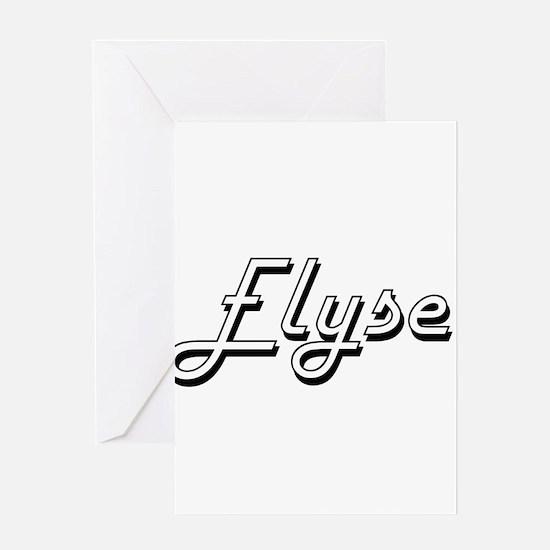Elyse Classic Retro Name Design Greeting Cards