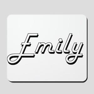 Emily Classic Retro Name Design Mousepad
