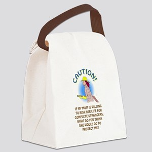 CAUTION! Canvas Lunch Bag