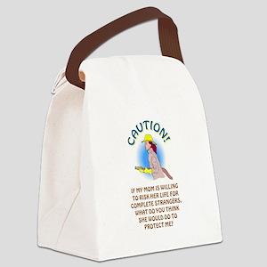 CAUTION! Canvas Lunch Bag