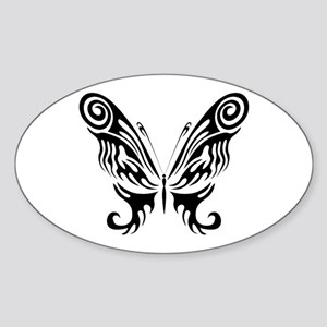 BUTTERFLY 9 Oval Sticker