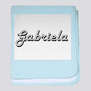 Gabriela Classic Retro Name Design baby blanket