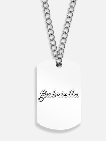 Gabriella Classic Retro Name Design Dog Tags