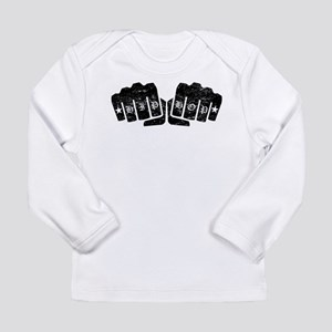 Hip Hop Knuckle Tattoo (Distressed) Long Sleeve T-