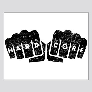 Hard Core Knuckle Tattoo (Distressed) Posters