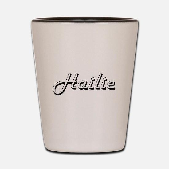 Hailie Classic Retro Name Design Shot Glass