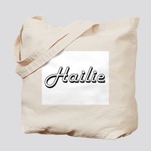 Hailie Classic Retro Name Design Tote Bag