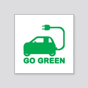 Go Green ~ Drive Electric Cars Sticker