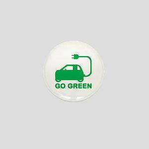 Go Green ~ Drive Electric Cars Mini Button