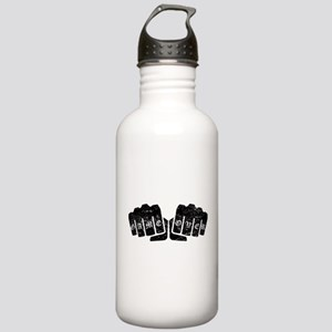 Game Over Knuckle Tattoo (Distressed) Water Bottle