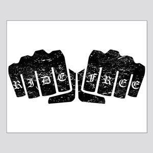 Ride Free Knuckle Tattoo (Distressed) Posters