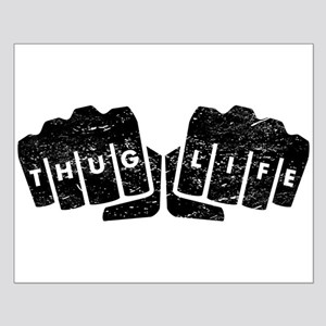 Thug Life Knuckle Tattoo (Distressed) Posters