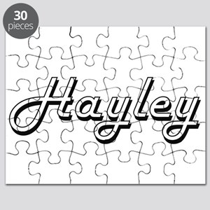 Hayley Classic Retro Name Design Puzzle