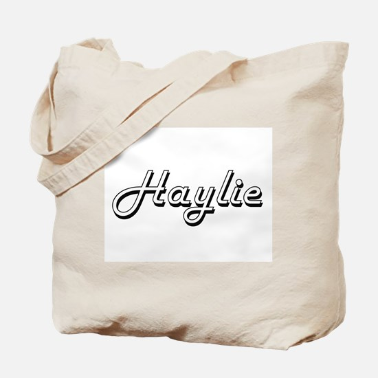 Haylie Classic Retro Name Design Tote Bag