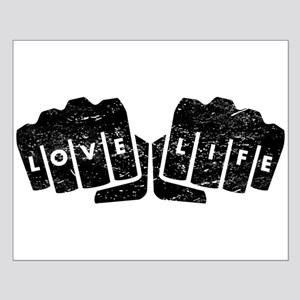 Love Life Knuckle Tattoo (Distressed) Posters